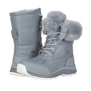 Ugg adirondack III fluff boot geyser gray size 6
